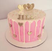 Pink & Gold drip cake