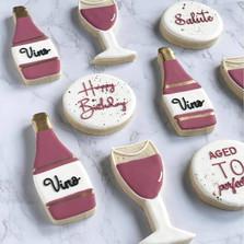 Wine birthday cookies