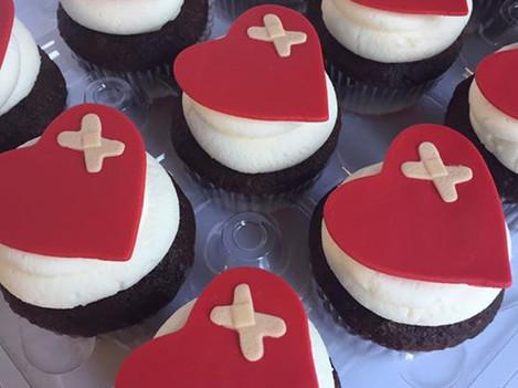CHD Heart Cupcakes