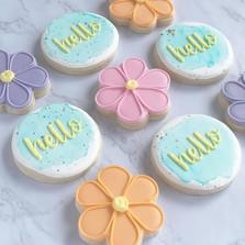 Floral spring cookies