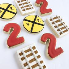 Train themed sugar cookies