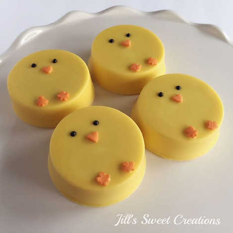 Easter Chick Chocolate Covered Oreos