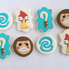 Moana themed cookies