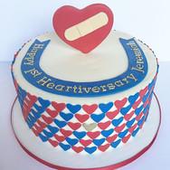 Heartiversary cake