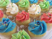 Spring Vanilla Buttercream Cupcakes