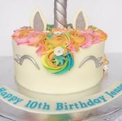 Silver Unicorn Cake
