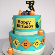 Construction 3rd birthday cake