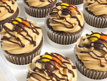 Reese Pieces Overload Cupcakes