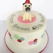 Sweet Pug themed Birthday Cake