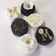 Black, White & Gold Chocolate Covered Oreos