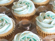 Mint & Gold cupcakes