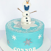 Winter themed birthday cake