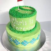Golf themed 40th Birthday cake