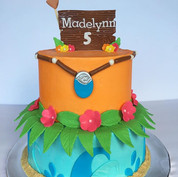 Moana theme birthday cake