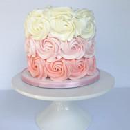 Pink Ombre Rosette Smash cake