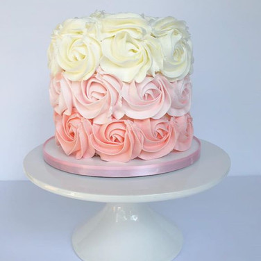 Pink Ombre Rosette Smash cake