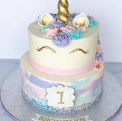 Watercolor Unicorn Cake