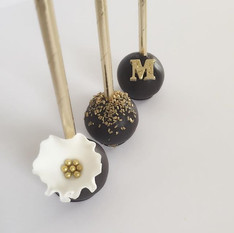 Black & Gold Cake Pops