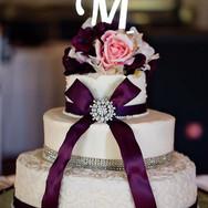 Classic Purple Wedding Cake