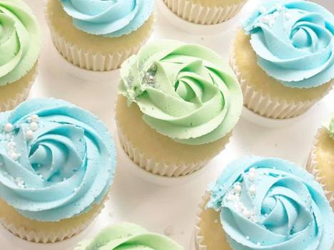 Blue & Green Cupcakes