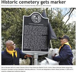 Camptown Cemetery Historical Marker (BBP)