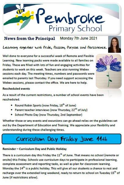 7th June 2021 Newsletter