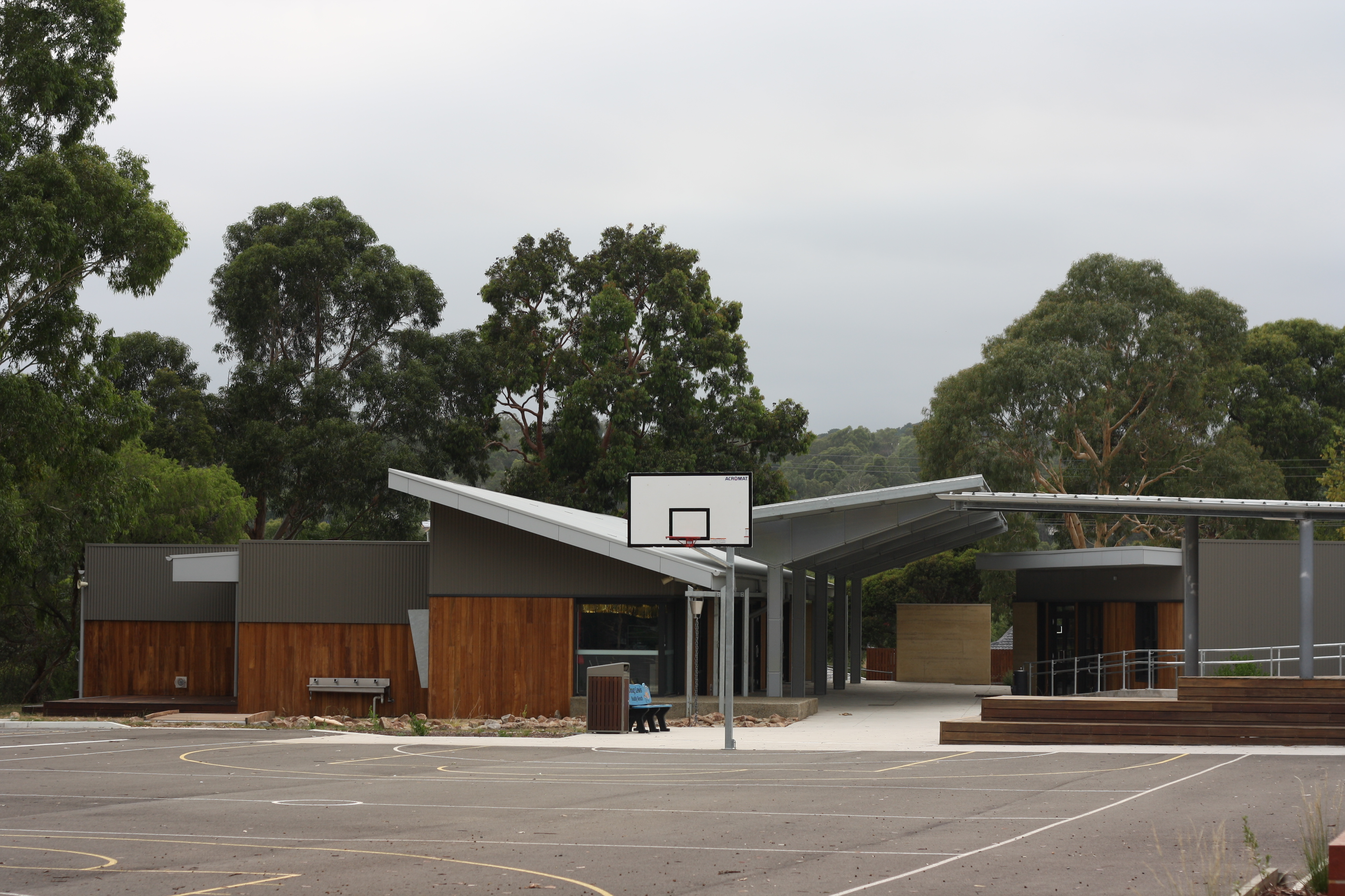 Basketball court view