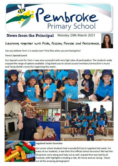 29th March 2021 Newsletter