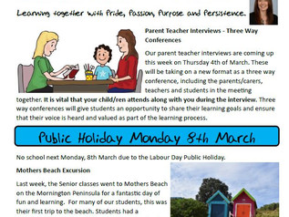2nd March 2021 Newsletter