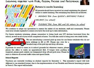 1st June 2020 Newsletter