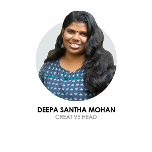 Deepa Santha mohan is the creative head of blusteak media