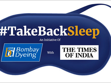 Example of a good online marketing campaign: #Takebacksleep by Bombay Dyeing & TOI