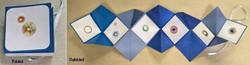 Accordian folded card