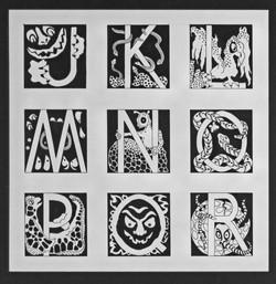Goblin Alphabet J - R
