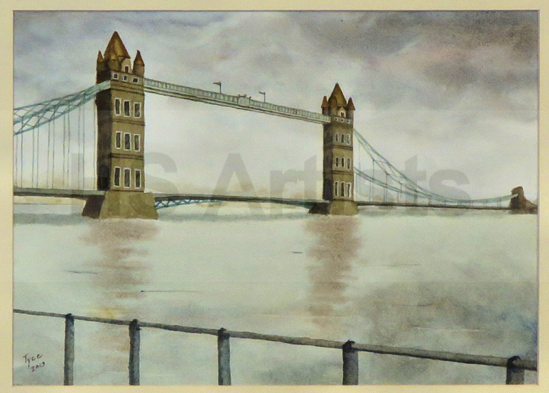 Tower Bridge on Cloudy Day