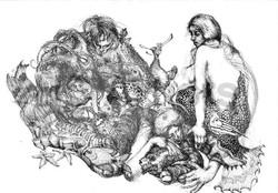 Mermaids Sorting Fish