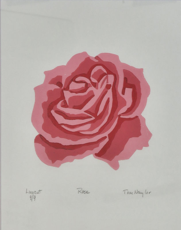 Rose Reduction Linocut
