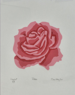 Rose Reduction Linocut