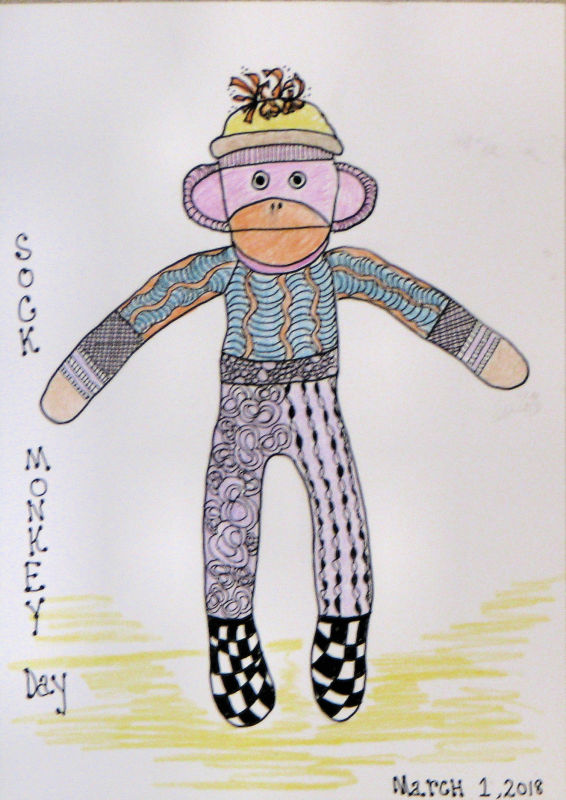 Sock Monkey card