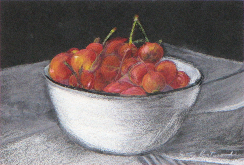White Bowl of Cherries