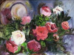 Rose Garden with Straw Hat