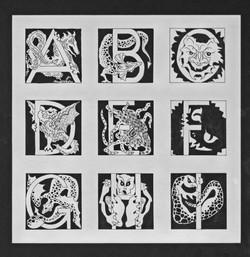 Goblin Alphabet A - I
