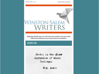 WSW Newsletter | July 13, 2016