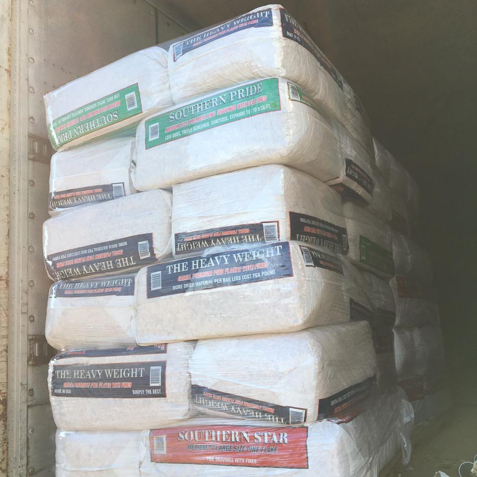 WOOD SHAVINGS READY TO BE DELIVERED