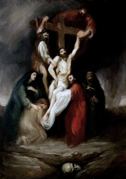 Christ descents from the cross