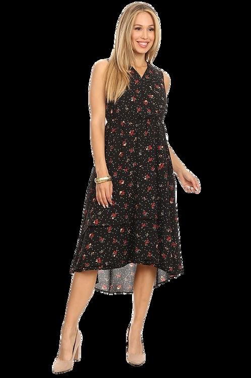 Mini Floral Sleeveless Dress