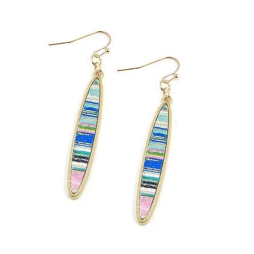 Metallic Stripes Earrings