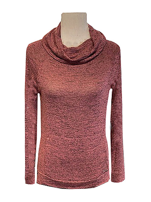 Knit Cowl Neck Top