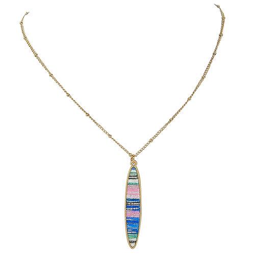 Metallic Stripes Necklace