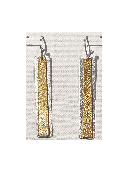 Two Tone Etched Earring